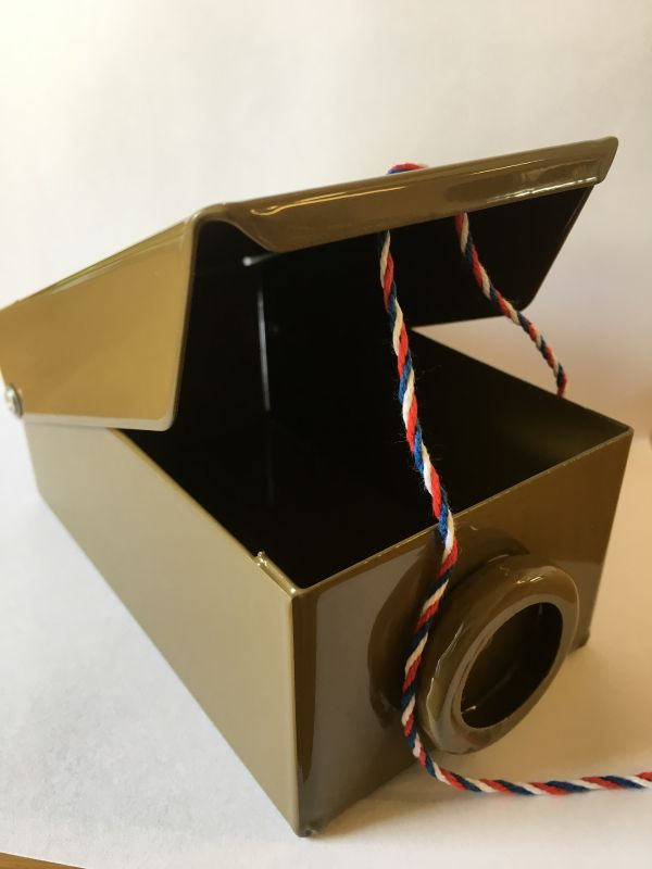 Schránka na klíče-pečetící krabička hnědá