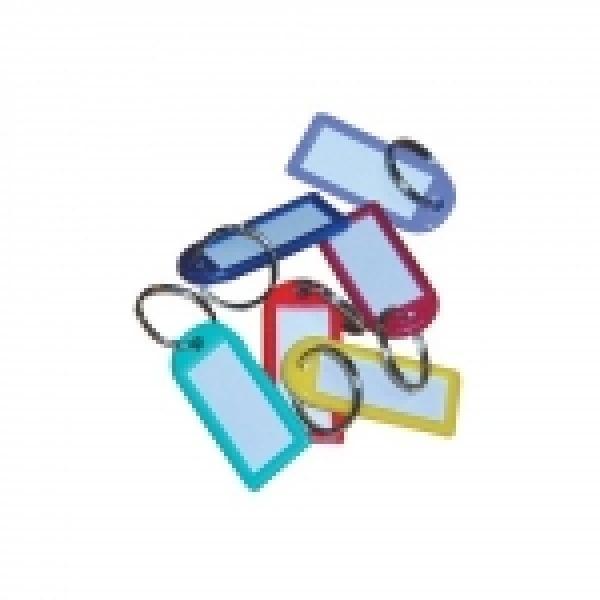 Visačka malá s kroužkem - balení 20ks mix barev